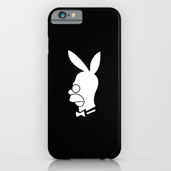 playboy homer white & black iPhone & iPod Case