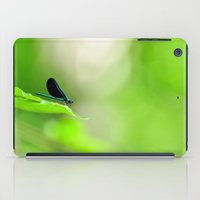Blue Damsel and the Lime Green Sky iPad Case