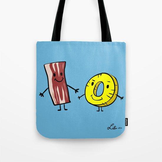 Bacon Pineapple Tote Bag