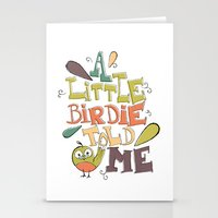 A Little Birdie Told Me Stationery Cards
