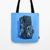 Rolleiflex - vintage film camera Tote Bag
