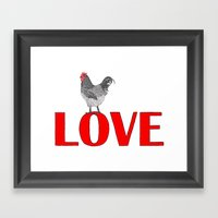 Chicken Love Framed Art Print