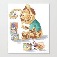 Cametol Cubes Canvas Print