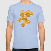 Just Bee Mens Fitted Tee Tri-Blue SMALL