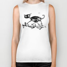 black cat Biker Tank