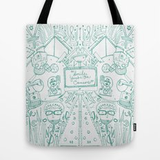 smile you're on camera Tote Bag