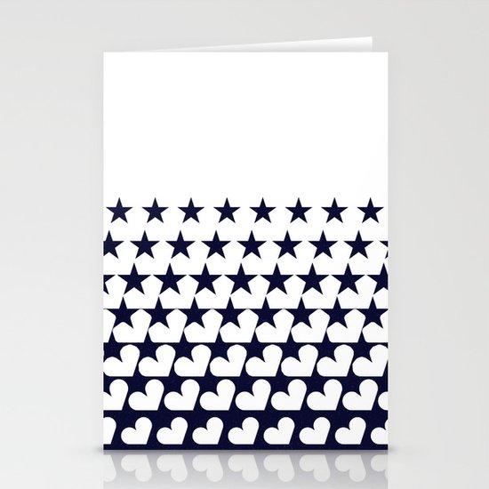 Love Among Stars Stationery Card