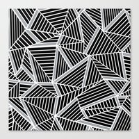 Ab Lines Zoom Black And … Canvas Print