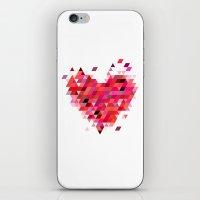 Heart1 Red iPhone & iPod Skin