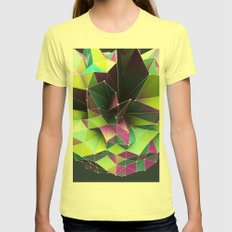 GRAPPH I Womens Fitted Tee Lemon SMALL