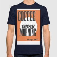 Coffee Mens Fitted Tee Navy SMALL