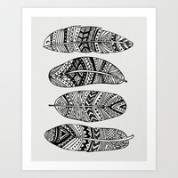 Feathers Of My Life Art Print