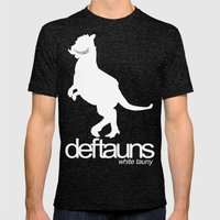 Deftauns White Tauny Mens Fitted Tee Tri-Black SMALL