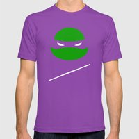 TMNT Donnie Poster Mens Fitted Tee Ultraviolet SMALL
