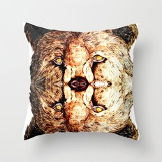 Two-Headed Bear Throw Pillow