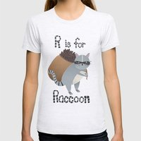 R Is For Raccoon Womens Fitted Tee Ash Grey SMALL