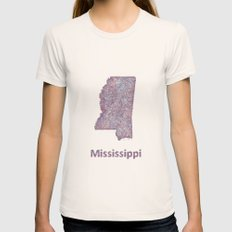 Mississippi Womens Fitted Tee Natural SMALL