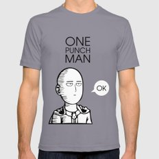 One Punch Man Saitama Mens Fitted Tee Slate SMALL