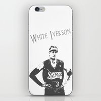 White Iverson iPhone & iPod Skin