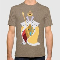 Queen Wolf Mens Fitted Tee Tri-Coffee SMALL