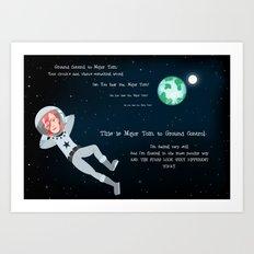 Bowie - Goodbye Major Tom Art Print