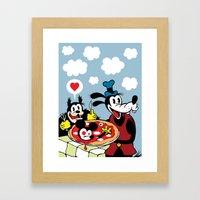 MICKEY'S PIZZA Framed Art Print