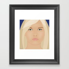 Just Another Pretty Face Framed Art Print