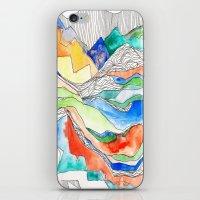Technicolor Mountains iPhone & iPod Skin