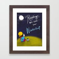 Reading Will Cure Your Wanderlust Framed Art Print