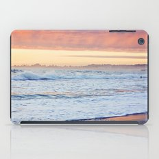 Vibrant Sunset over the Stacks at Huntington Beach, California iPad Case