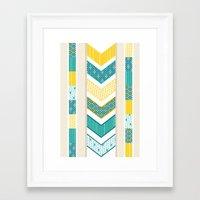 Sunshine Chevron Framed Art Print