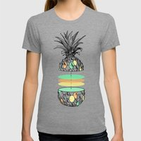 Sliced pineapple Womens Fitted Tee Tri-Grey SMALL
