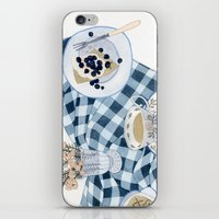Still life with blueberry pie iPhone & iPod Skin