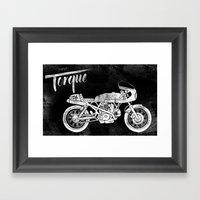 Vintage Torque Cafe Race… Framed Art Print