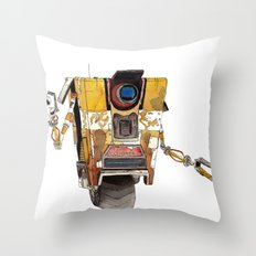 Borderlands Claptrap Wat… Throw Pillow