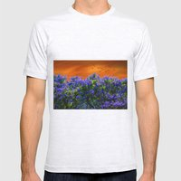 Purple forest Mens Fitted Tee Ash Grey SMALL