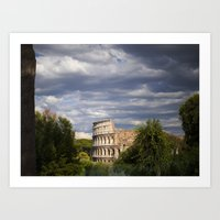 The Roman Colosseum  Art Print