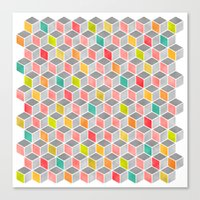 Block Party Bright Canvas Print