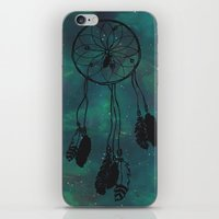 Dreamcatcher (teal) iPhone & iPod Skin