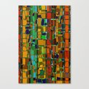 Abstract Geometric Fabric Canvas Print