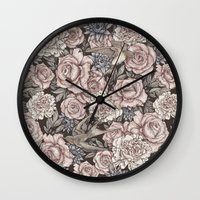 Flowers & Swallows Wall Clock