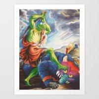 Kermit Slaying His Pet M… Art Print
