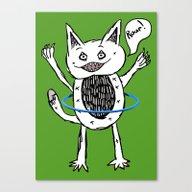 Monster Hula Hoop Canvas Print