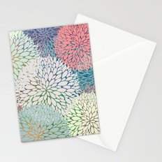 Abstract Floral Petals 3 Stationery Cards