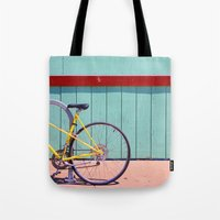 Yellow Bicycle Tote Bag