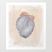 Hairy Heart Art Print