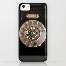 OLD BLACK PHONE iPhone 5c Slim Case