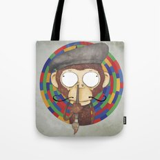 Monkey Artist Tote Bag