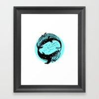 Having Fun Color (Whales) Framed Art Print