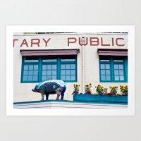 Pike Place Market (three… Art Print